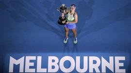 FOTO: Hari Bersejarah Sofia Kenin di Australia Open