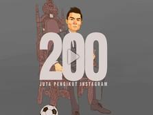 Wow! Cristiano Ronaldo Punya 200 Juta Follower di Instagram