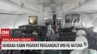 VIDEO: Begini Suasana Kabin Pesawat Pengangkut WNI ke Natuna