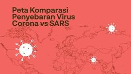 INFOGRAFIS: Peta Komparasi Penyebaran Virus Corona vs SARS
