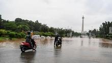 Banjir Jakarta, Jalan Sekitar Monas Turut Terendam