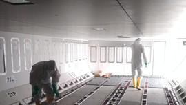Pesawat Batik Air Penjemput WNI dari Wuhan Disterilisasi