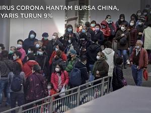 Virus Corona Hantam Bursa China, Nyaris Turun 9%