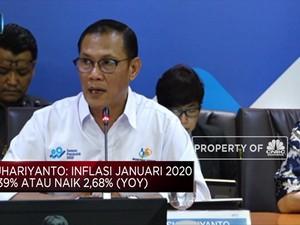 BPS Catat Inflasi Januari 2020 Mencapai 0,39% (mom)