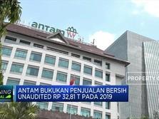 2019, Penjualan Bersih ANTM Unaudited Rp 32,81 T