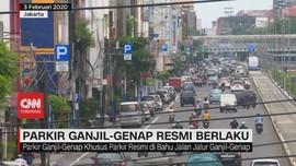 VIDEO: Parkir Ganjil-Genap di Jakarta Resmi Berlaku