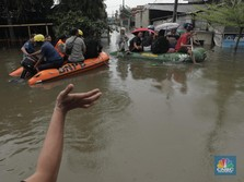 Diguyur Hujan Lebat, Pagi Ini Jakarta Terendam Banjir Lagi