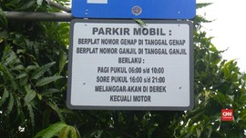 VIDEO: Pemprov DKI Terapkan Parkir Ganjil Genap