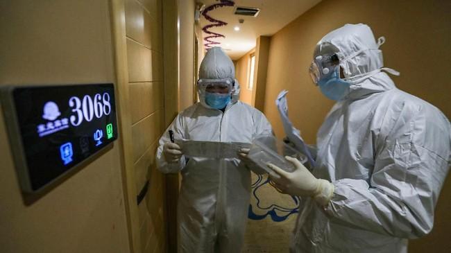 Rumah Sakit Huoshenshan saat ini dikelola oleh militer untuk merawat pasien virus Wuhan. (Photo by STR / AFP) / China OUT
