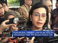 Sri Mulyani Serahkan Draft Omnibus Law Pajak ke DPR