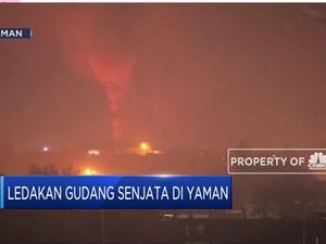 Kacau! Ini Ledakan Gudang Senjata di Yaman