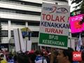 Buruh Demo Kenaikan BPJS Kesehatan, Jalan Rasuna Said Macet