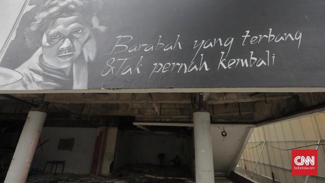 Forum Seniman Peduli TIM berharap kepada DPRD DKI untukmenekan Pemprov DKI Jakarta batal membangun hotel di kawasan TIM dalam proyek revitalisasi tersebut.(CNN Indonesia/Adhi Wicaksono)