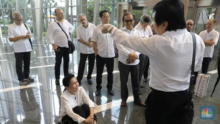 Kedatangan mereka bertujuan untuk mengadukan permasalahan yang mereka alami seiring pengusutan kasus dugaan korupsi di PT Asuransi Jiwasraya (Persero).
