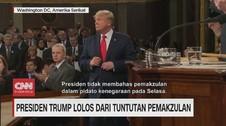 VIDEO: Presiden Trump Lolos dari Tuntutan Pemakzulan