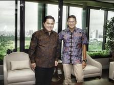 'Bro' Sandiaga Sambangi Erick Thohir, Mau Jadi Direksi BUMN?