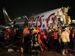 Begini Penampakan Pesawat Naas yang Terbelah Dua di Turki