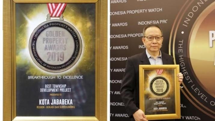 Kota Jababeka Group meraih penghargaan di ajang Golden Property Award 2019 kategori Best Township Development Project.