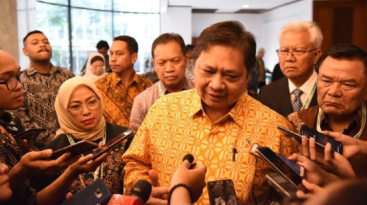 Menko Perekonomian Airlangga Hartarto (Zaky via CNBC Indonesia)