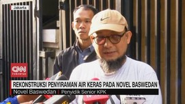 VIDEO: Rekonstruksi Penyiraman Air Keras ke Novel Baswedan