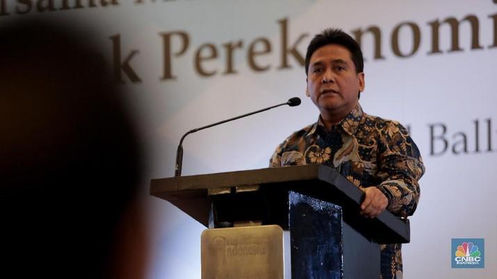 Ketua Umum Asosiasi Pengusaha Indonesia (Apindo) Hariyadi B Sukamdani (CNBC Indonesia/Tri Susilo)