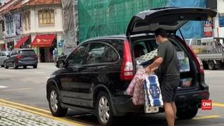 VIDEO: Panik Corona, Warga Singapura Borong Barang Kebutuhan