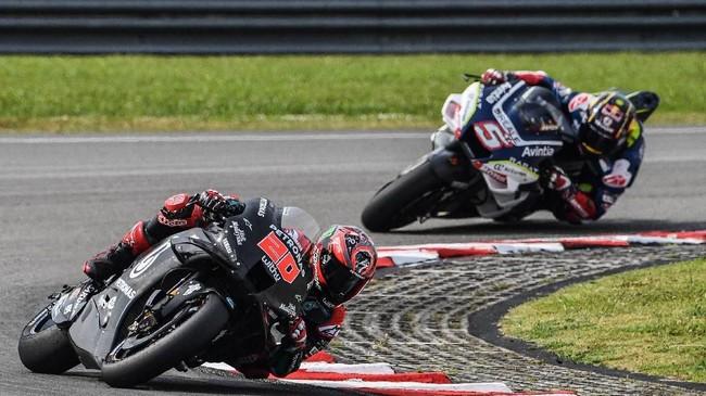 Pada hari kedua tes MotoGP 2020 di Sirkuit Sepang,Fabio Quartararo mejadi yang terbaik dengan catatan waktu 1 menit 58,572 detik. (Photo by Mohd RASFAN / AFP)