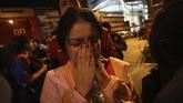 Di barak, pelaku menembak mati tiga orang, satu di antaranya merupakan tentara. Lantas aksi bergeser ke pusat perbelanjaan di Nakhon Ratchaisma--sekitar 250 km dari ibu kota Bangkok. (AP Photo/Sakchai Lalitkanjanakul)