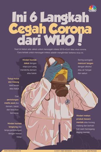 Simak, 6 Cara Cegah Corona dari WHO!