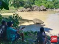 Anggota TNI Hilang Terseret Arus Sungai