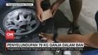 VIDEO: Polisi Ungkap Penyelundupan 79 Kg Ganja Dalam Ban