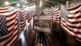 FOTO : Menuai Untung dari Membakar Bendera AS-Israel