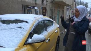 VIDEO: Salju Pertama di Baghdad dalam Satu Dekade