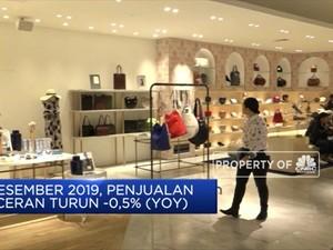 Di Desember 2019, Penjualan Eceran Tercatat Turun -0,5% (YOY)