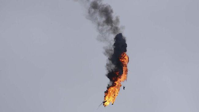 Helikopter Militer Suriah Ditembak Jatuh, 2 Orang Tewas