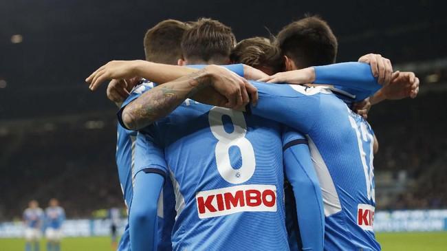 Kemenangan dengan gol tunggal Fabian Ruiz jadi modal bagus Napoli untuk menatap leg kedua semifinal Coppa Italia di San Paolo. (AP Photo/Antonio Calanni)