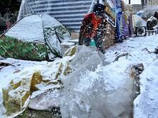 Kala Salju Turun di Irak, Begini Penampakannya