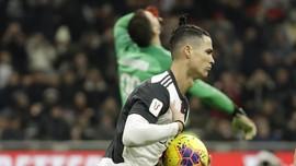 FOTO: Juventus Nyaris Takluk dari Milan, Untung Ada Ronaldo
