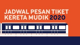 INFOGRAFIS: Jadwal Pesan Tiket Kereta Mudik Lebaran 2020