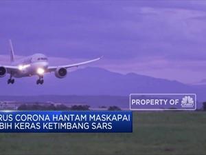 Gara-Gara Corona Bisnis Penerbangan Dunia Rugi Rp 70 T