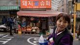Supermarket Pig Rice di Seoul yang menjadi lokasi syuting film pemenang Oscar 2020, Parasite. (Ed JONES/AFP)
