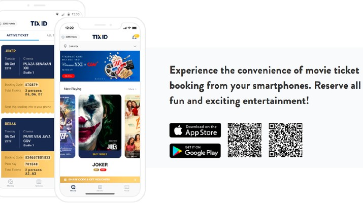 Tix ID, platform tiket bioskop online Indonesia berinvestasi di PounchNATIOAN, startup hiburan Singapura.