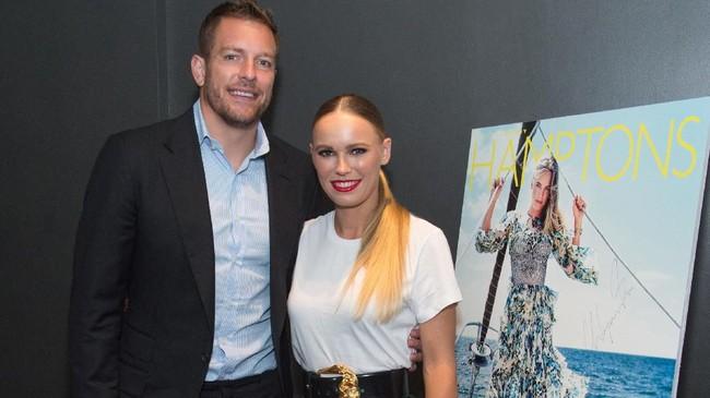 Setelah putus dari Rory McIlroy pada 2014, eks petenis nomor satu dunia Caroline Wozniacki menikah dengan mantan pemain NBA David Lee pada Juni 2019. (Mark Sagliocco/Getty Images for Hamptons Magazine/AFP)