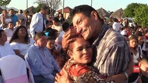 VIDEO: Ratusan Warga Nikaragua Nikah Massal saat Valentine