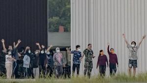 FOTO: Aktivitas WNI di Natuna Pada Masa Observasi