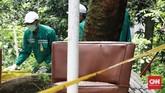 Kepala Biro Hukum, Kerja Sama, dan Komunikasi Publik Bapeten masih mendalami penyebab ditemukannya radiasi zat radioaktif di lokasi tersebut. (CNN Indonesia/Andry Novelino)