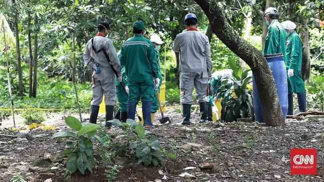 BATAN menilai zat radioaktif mestinya tidak boleh berada di tempat sembarangan, termasuk di sebuah pemukiman warga.(CNN Indonesia/Andry Novelino)