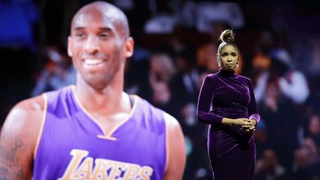 Artis pemenang penghargaan Grammy, Jennifer Hudson, ambil bagian dalam acara penghormatan kepada Kobe dalam NBA All Star 2020.(AP Photo/Nam Huh)