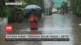 VIDEO: Ratusan Rumah Terendam Banjir Hingga 1 Meter