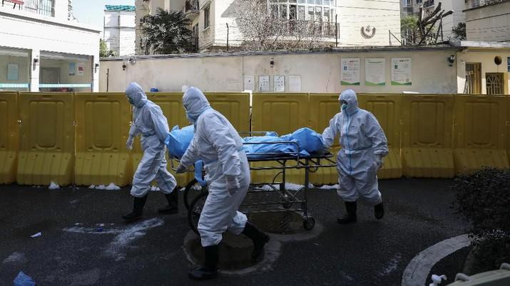 Melihat Rumah Sakit Virus Corona. (Chinatopix via AP)